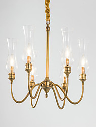 Chandelier ,  Country Brass Feature for Designers Metal Bedroom Dining Room Hallway