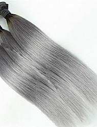3pcs / lot nueva llegada brasileño gris plata 1b barata recta 2 tono ombre vírgenes bultos de tejido de trama humana