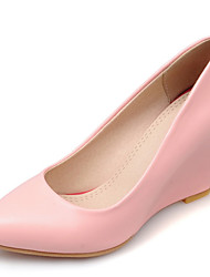 Women's Shoes Wedge Heel Pointed Toe Slip-on Pump More Color Available