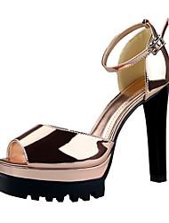 Women's Sandals / Peep Toe / Platform / Sandals Patent Leather Party & Evening / Dress / Casual Stiletto HeelBuckle /