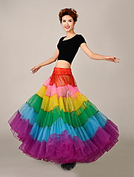 Slips A-Line Slip Floor-length 6 Tulle Netting / Polyester Rainbow Birdal Petticoats Multi-color