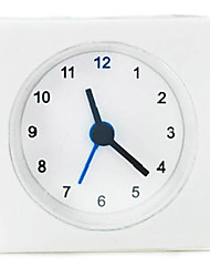 style simple 1pc mini-horloge d'alarme forme carrée chevet salle d'étude horloges de table vackis blanc