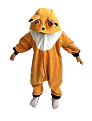 Kigurumi Déguisements d'animaux Halloween / Noël / Carnaval / Le Jour des enfants / Nouvel an Marron Couleur Pleine Polaire