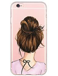 Назначение iPhone X iPhone 8 iPhone 6 iPhone 6 Plus Чехлы панели Ультратонкий С узором Задняя крышка Кейс для Соблазнительная девушка