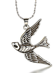 Punk Vintage Thai Silver Bird Swallow Silver CZ Beads Necklace Pendant Necklaces Daily / Casual 1pc