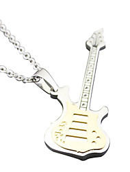 Collier de guitare - or blanc