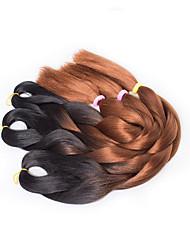 Marrom Box Tranças Tranças torção Extensões de cabelo 20inch Kanikalon 3 costa 100G grama Tranças de cabelo