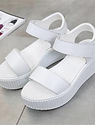 Damen-High Heels-Lässig-PU-BlockabsatzSchwarz Weiß