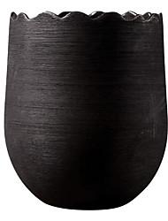 Modern Style Home Decoration Black Ceramic Vase