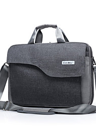 "Bag for Macbook Pro 15.4"" Solid Color Textile Material Fashion Big Capacity Laptop Briefcase Waterproof Shockproof Shoulder Handle Bag"