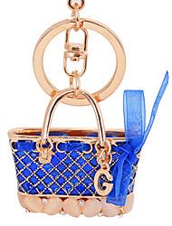 Enamel Hangbag Lady Car Keychain Gift