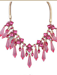 Fashion Atmospheric Water Droplets Crystal Necklace Jewelry Trend