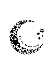 9049  Star And Moon Wall Stickers Plane Wall Stickers Decorative Wall Stickers,VINYL Material Removable Wall Decal