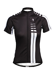 PaladinSport Women Short Sleeve Cycling Jersey DX646 White Vertical Lines