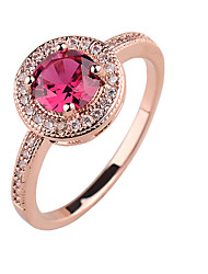 New fashion ladies ring copper inlaid CZ Ring rose gold platinum gold color