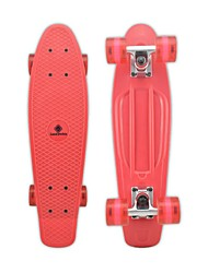 "Plastic Cruiser Skateboard Complete 22"" DIY Standard Skateboard Banana Board Red Deck Red Wheels"