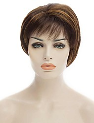 Natural Short Multi-color Popular Straight Synthetic Wig For Woman