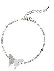 Silver Butterfly  Charm Bracelet Anklet Jewelry