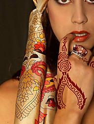 2pcs pochoir 22x10cm de tatouage&modèle pour la peinture, aérographe tatoo&henné tatouages temporaires