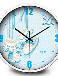 Cute Baby Shoes Home Furnishing Children Room Decoration Metal Wall Clock