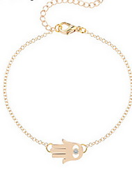 Kimiing Gold/Silver Palm Chain Bracelet Jewelry