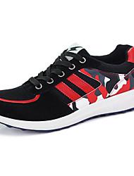 Herren-Flache Schuhe-Sportlich-Tüll-Flacher AbsatzSchwarz Blau Rot