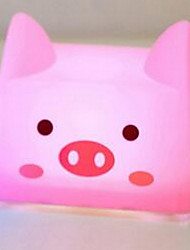 Creative Touch USB Rechargable Cartoon Pink Pig LED Night Light