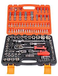 108 conjuntos de cromo vanádio aço chave de combinação de manga aftermarket auto mecânico kit definir reparação
