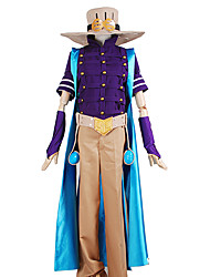Вдохновлен Bizarre Adventure JoJo в Zeppeli Аниме Косплэй костюмы Косплей Костюмы Однотонный ПэчворкКофты Брюки Головные уборы Перчатки