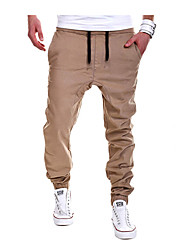 Men's Casual Solid Pants Jogging Sweatpants Joggers Pants, Cotton/Polyester