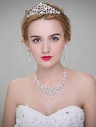 Mulheres Liga Capacete-Casamento Tiaras 3 Peças
