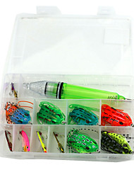 12pcs Fishing Bait Set Ray Frog/ Fish Lamp/ VIB  Fishing Lures