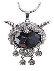 Exquisite Crystal Sheep Pendant Necklace Jewelry for Lady