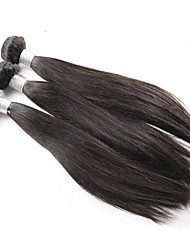 "3Pcs/Lot 8""-30"" Brazilian Virgin Hair Natural Black Color Straight Human Hair Weaves Style Hot Sale."