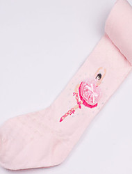 Girls Socks & Stockings Cotton Black / Pink / White