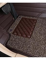 círculo completo cercada por couro de seda dupla flexibilidade tapete do carro durabilidade desgaste à prova de água