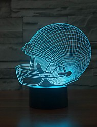 Amazing 3D Lllusion Led Table Lamp Night Light with Rugby Hat Shape Color-Changing Night Light