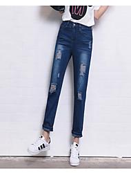 Pantaloni Da donna Jeans Semplice Cotone Elasticizzato