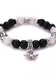 New Arrival Natural Stone With Starfish Pendant Beads Bracelet  #YMGS1032