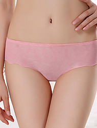 Women's A piece of ice on low-waist seamless dark stripe Jacquard briefs