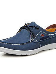 Serene® Men's Cowhide Oxfords / Athletic Shoes Blue / Brown / Green-6186