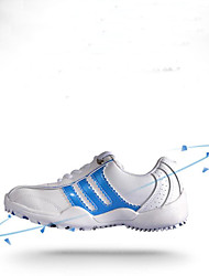 Boy's Girl's Athletic Shoes Spring Fall Flats Leather Outdoor Lace-up Blue Pink White Silver Gold