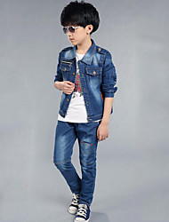 Boy's Casual/Daily Print Jeans / Clothing Set,Rayon Spring / Fall Blue