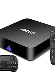 nuevos m8s quad core XBMC smart tv box android4.4 totalmente cargado + teclado inalámbrico