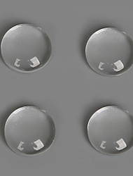 Beadia 50Pcs 10mm Flat Round Transparent Glass Cabochon