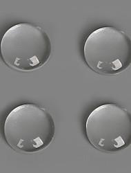 Breloques verre / Plastic Round Shape transparent 50Pcs