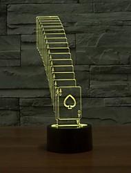spezielle 3D-Falten-Poker-LED-Streifen Tischleuchte Lampe 7color Änderung Schreibtisch Farbwechsel-Nachtlicht