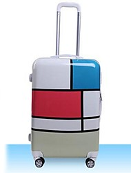 Unisex-Outdoor-PVC-Luggage-White / Blue / Red / Black