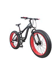 Mountain Bike / Men's Suspension Fork Double Disc Brake Aluminium Alloy Frame /  21 Speed 26 Inch / Beach Sand Snow Bike