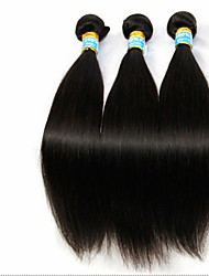 3 Bundles Brazilian Virgin Hair Straight With Lace Closure Unprocessed Human Hair Weaves And Closures Free/Middle/3 Part